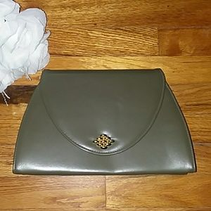 Handbags - VINTAGE Olive Green Envelope Clutch